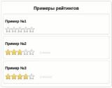 Плагин на jQuery для вывода рейтинга в виде звезд